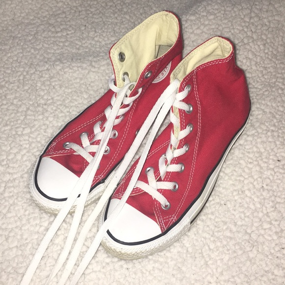 1801f6dff16a Converse Shoes - NWOT red high top converse